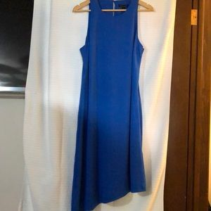 Banana Republic - Royal Blue Silk ALine Dress - 14